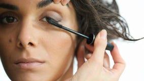 Eye Makeup stock video footage
