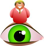Eye man Royalty Free Stock Photography