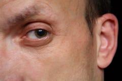 Eye of man stock photos