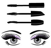 Eye mascara vector Stock Photography