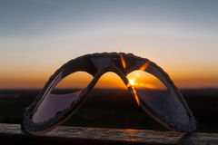 Eye mask in the sunset Stock Image
