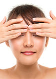 Eye massage Royalty Free Stock Image