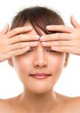Eye massage royalty free stock image