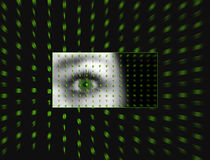 Eye of the Matrix. Photo of my eye applied photo effects in PSP 9 royalty free illustration
