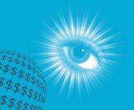 Eye on money Stock Photos