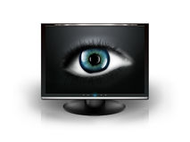 Eye in the monitor Royalty Free Stock Photo