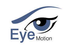 Eye Motion Logo. Logo Design for beauty, animation Agency Royalty Free Stock Photos