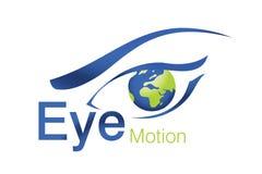 Eye Motion Logo. Logo Design for beauty, animation Agency Stock Images