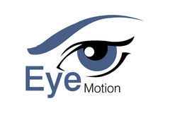 Eye Motion Logo Stock Photography