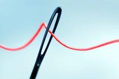 Eye of needle. Close up Royalty Free Stock Image