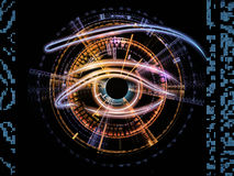 Eye of numbers Royalty Free Stock Images