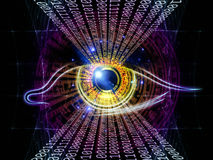 Eye of numbers Royalty Free Stock Photos