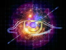 Eye of numbers Stock Photography