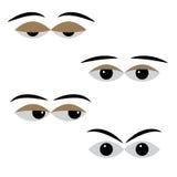 Eye o vetor com humores diferentes em um fundo branco ilustração do vetor