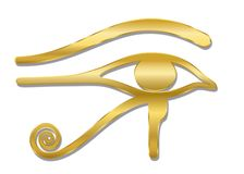 Free Eye Of Horus Golden Symbol Royalty Free Stock Photo - 145240345