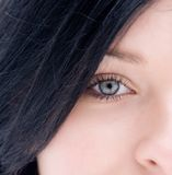 Eye Of Teenager Stock Images