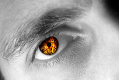 Free Eye On Fire Royalty Free Stock Image - 7288816