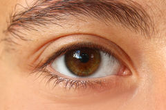 Eye. Original photo female caucasican eye girl stock photo