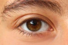 Eye. Original photo female caucasican eye girl Stock Photo