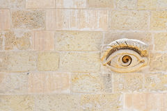 Eye of Osiris Maltese at the gates of Valletta.  Royalty Free Stock Photo