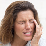 Eye pain Royalty Free Stock Photo