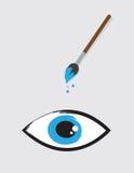 Eye Paintbrush Royalty Free Stock Photography