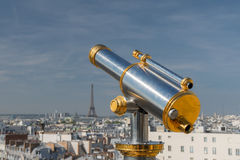 Paris - Telescope on the roofs Royalty Free Stock Image