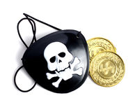 Eye patch and Gold Stock Photography
