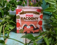 Eye patches with a raccoon on the package. Secret Key Racoony Hydro-Gel Eye & Multi Patch. royalty free stock photography