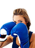 Eye pattern after boxing gloves Stock Photo