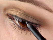 Eye pencil Stock Photography
