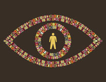 Eye - people pictogram Royalty Free Stock Image