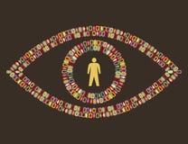Free Eye - People Pictogram Royalty Free Stock Image - 19378736