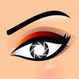 Eye photography logo Royalty Free Stock Photo