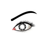 Eye photography logo stock illustration