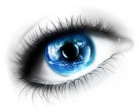 eye planet Royaltyfri Bild