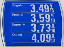 Eye-Popping Fuel Prices Stock Photo