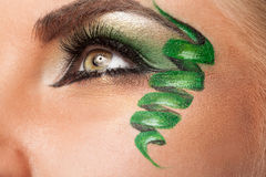 Eye with professional artistic make up Stock Photo