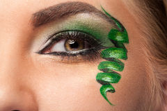 Eye with professional artistic make up Royalty Free Stock Photography