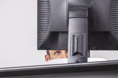 The Eye of the Programmer Stock Photo
