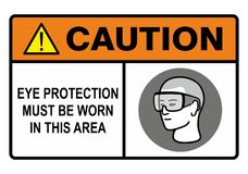Eye protection Stock Image