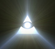Eye of providence bright light flare Stock Photos