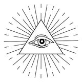 Eye of Providence vector illustration