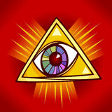 Eye of providence illustration Stock Photos