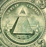 Eye of Providence on one USA dollar bill royalty free stock image