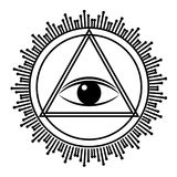 Eye of Providence sign. All seeing eye in triangle pyramid. Stock Photography