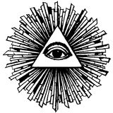 Eye of Providence. On white background Stock Image
