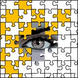 Eye and puzzle Stock Images