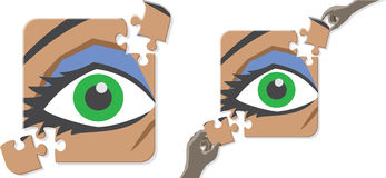 Eye puzzle Royalty Free Stock Photos