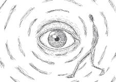 Eye que las miradas en un hombre Fotografía de archivo libre de regalías